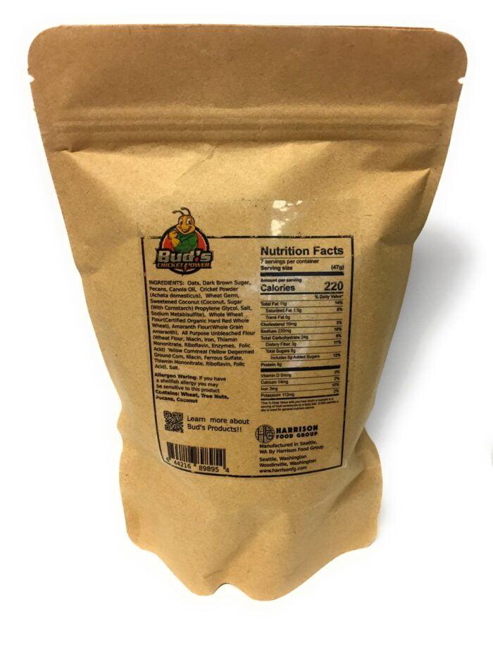 Bud's Cricket Power Cricket Protein Granola Ingredients List