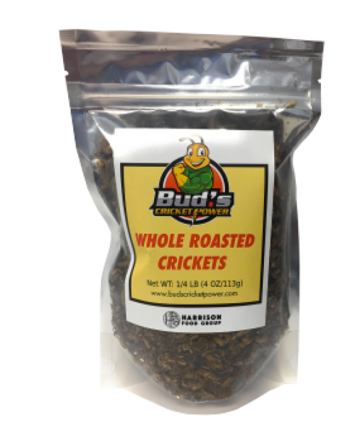 Bud's Cricket Power Whole Roasted Crickets