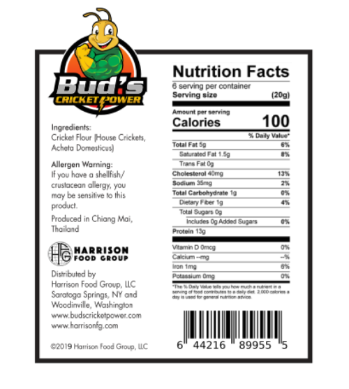 Cricket Powder Nutrition Facts
