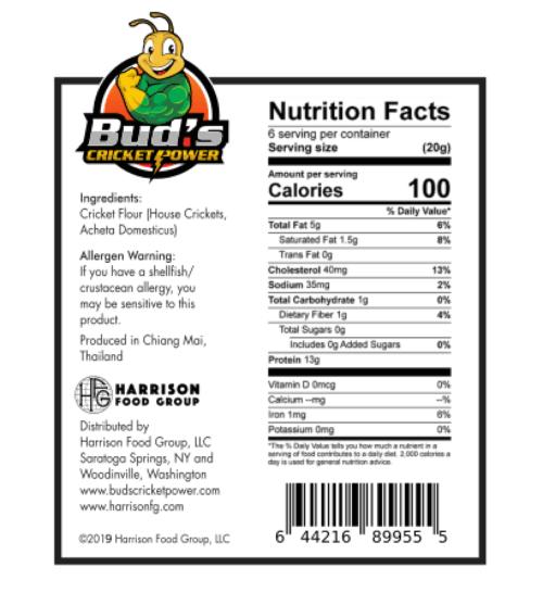 Cricket Powder Nutrition Facts