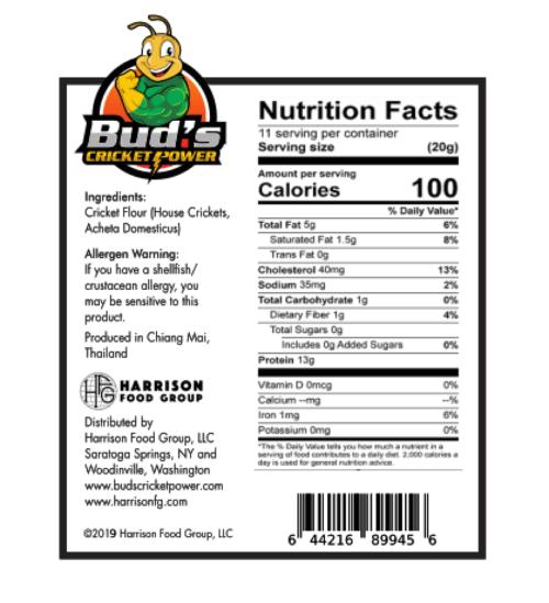 Cricket Flour Nutrition Facts