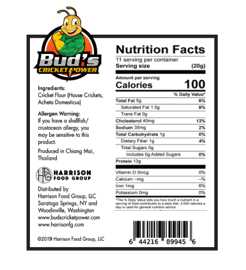 Cricket Flour Nutrition Facts