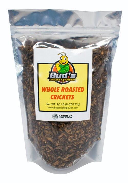 0.5 lb bag of whole roasted crickets