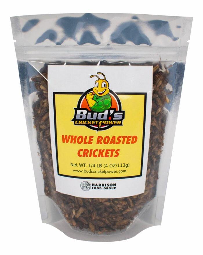 1/4 Pound bag of whole roasted crickets